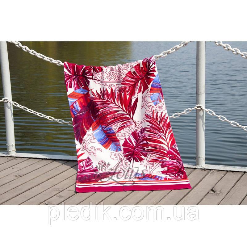 Пляжное полотенце 75х150 Lotus Paradise Fusya