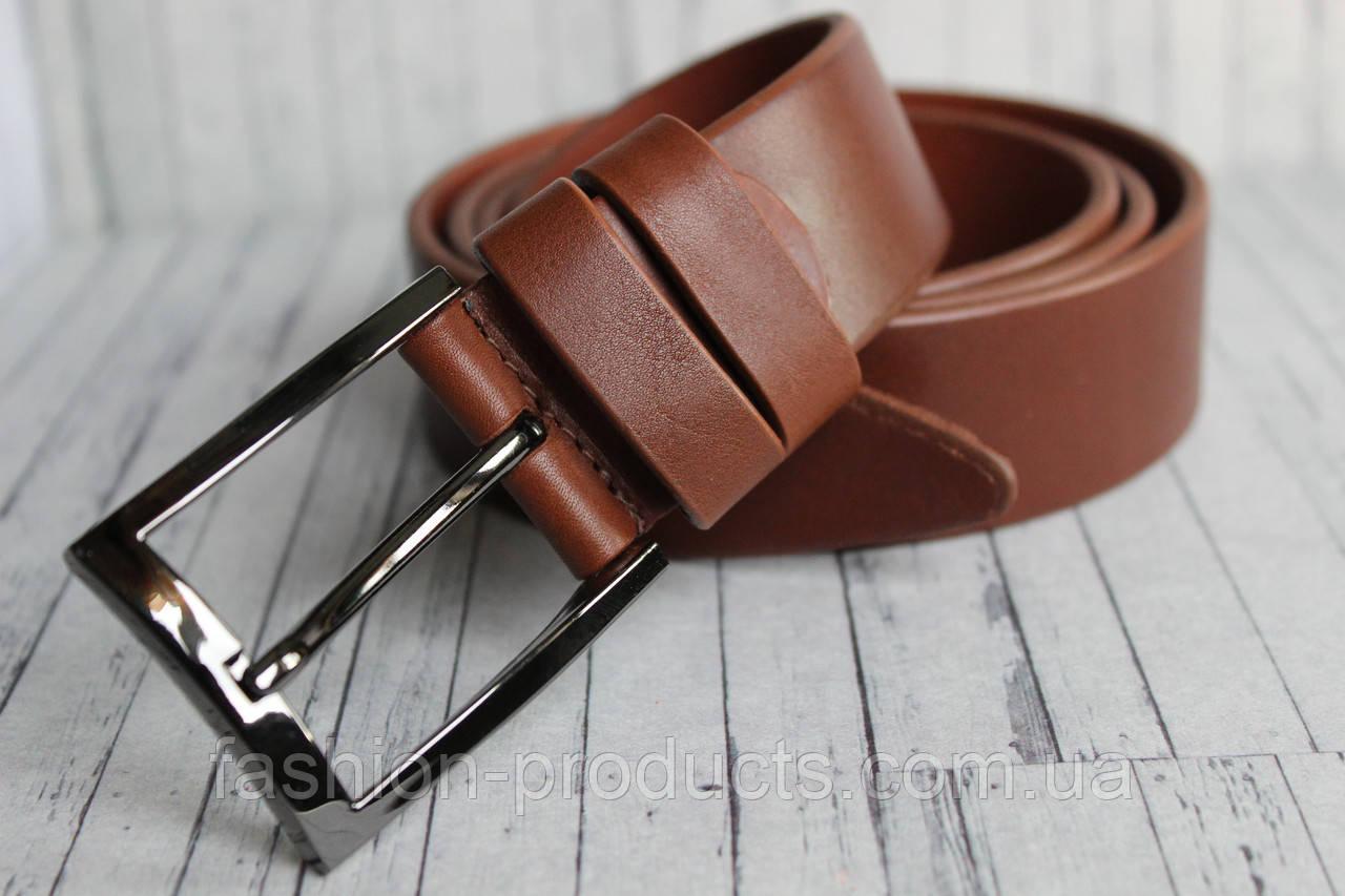 4b63768fc91e Стильный мужской ремень коричневый из натуральной кожи