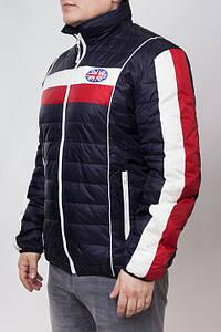 Moschino 00304   Зимняя куртка т.сине-белая