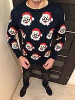 Мужской свитер (Санта) новогодний