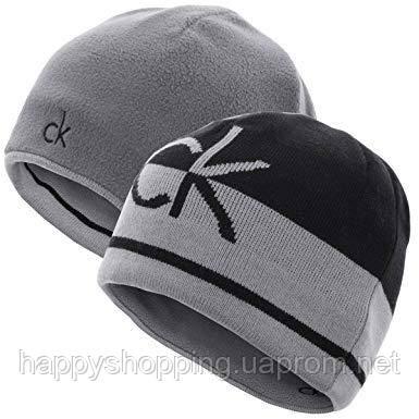 Мужская двусторонняя шапка Calvin Klein