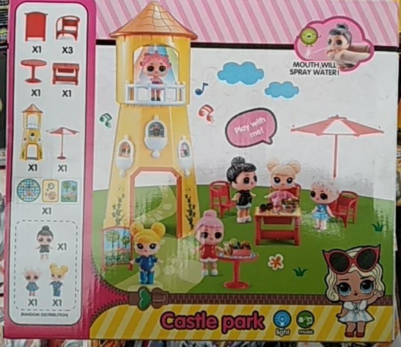 Игровой набор Лол замок с мебелью ( Lol castle park ) 3 куклы лол