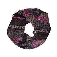 Шарф Женский 150 60 см Разноцветный OD-7-12 pink-green-brown, КОД: 298421