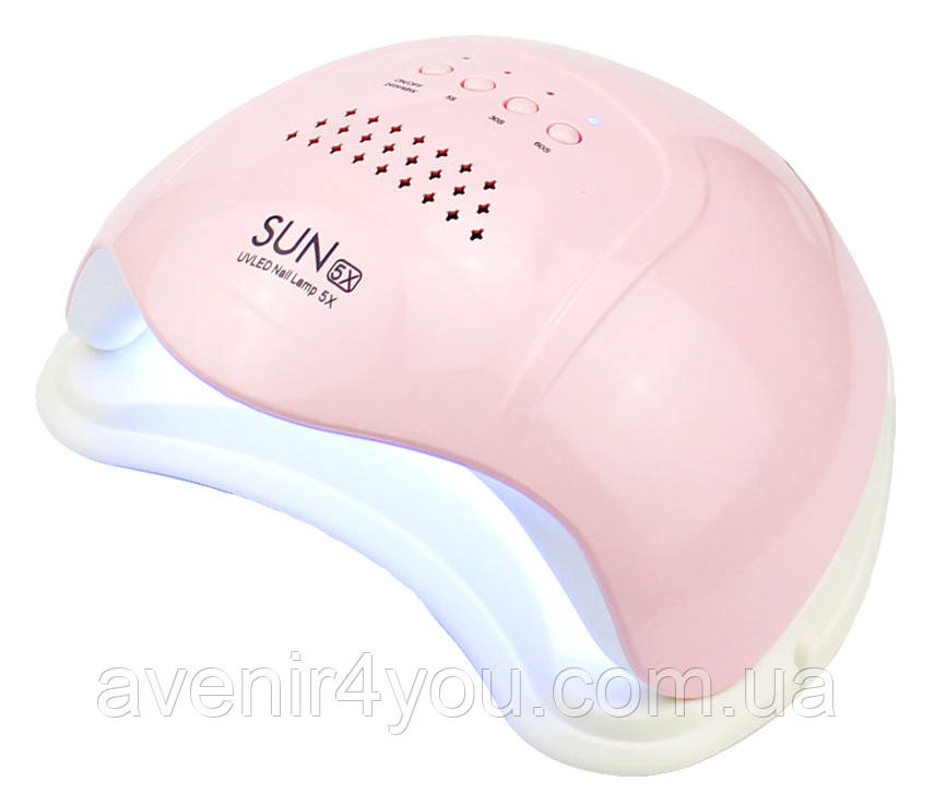 Лампа SUN 5Х Розовая UV/LED 48W