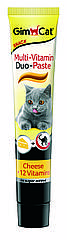 Паста мультивитаминная Gimcat Multi-Vitamin Duo Paste Cheese & Vitamins для кошек с сыром, 50 г
