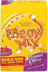 Meow Mix Original Choice корм для взрослых кошек с курицей и индейкой, 9.98 кг