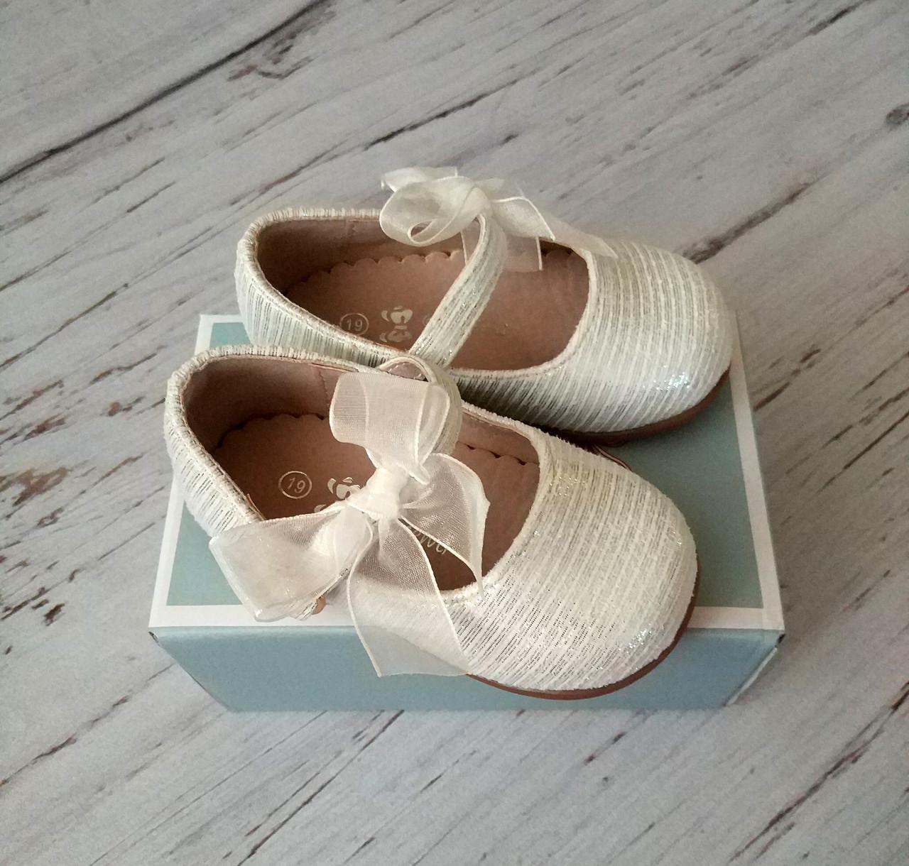 Обувь для девочек, детские туфли белые, Doremi
