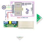 2-х канальний блок дистанційного управління 220V гаражними воротами + 2 пульта, фото 3