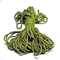 Канат джутовый кручёный 6мм зелёный