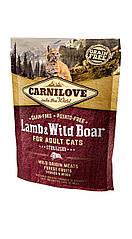 Carnilove Lamb & Wild Boar корм для стерилизованных кошек, ягненок и дикий кабан, 0.4 кг