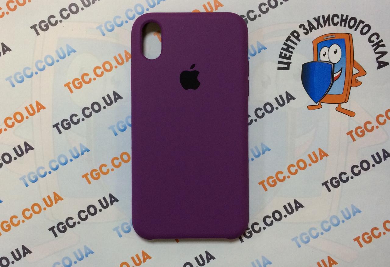 Силиконовый чехол для iPhone Xr, - «пурпурный» - copy original