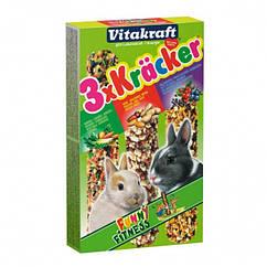 Крекер Vitakraft для кроликов с овощами, лесными ягодами и орехами, 3 шт