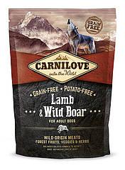 Сухой корм для взрослых собак Carnilove Lamb & Wild Boar с ягненком и диким кабаном 1.5 кг
