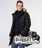 Куртка длинная зимняя с мехом Braggart Aggressive - 39482 черный, фото 1
