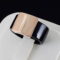 Стильное каучуковое кольцо с золотым покрытием 0463