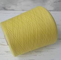Пряжа Кашемир 100% Loro Piana  / желтый лимонный