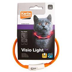 Ошейник Karlie-Flamingo Visio Light Led для кошек, светоражающий, 35 см