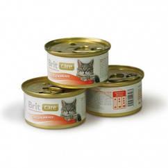 Консервы Brit Care Chicken для кошек с курицей, 80 г