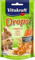 Лакомство Vitakraft Drops для грызунов с морковью, 75 г