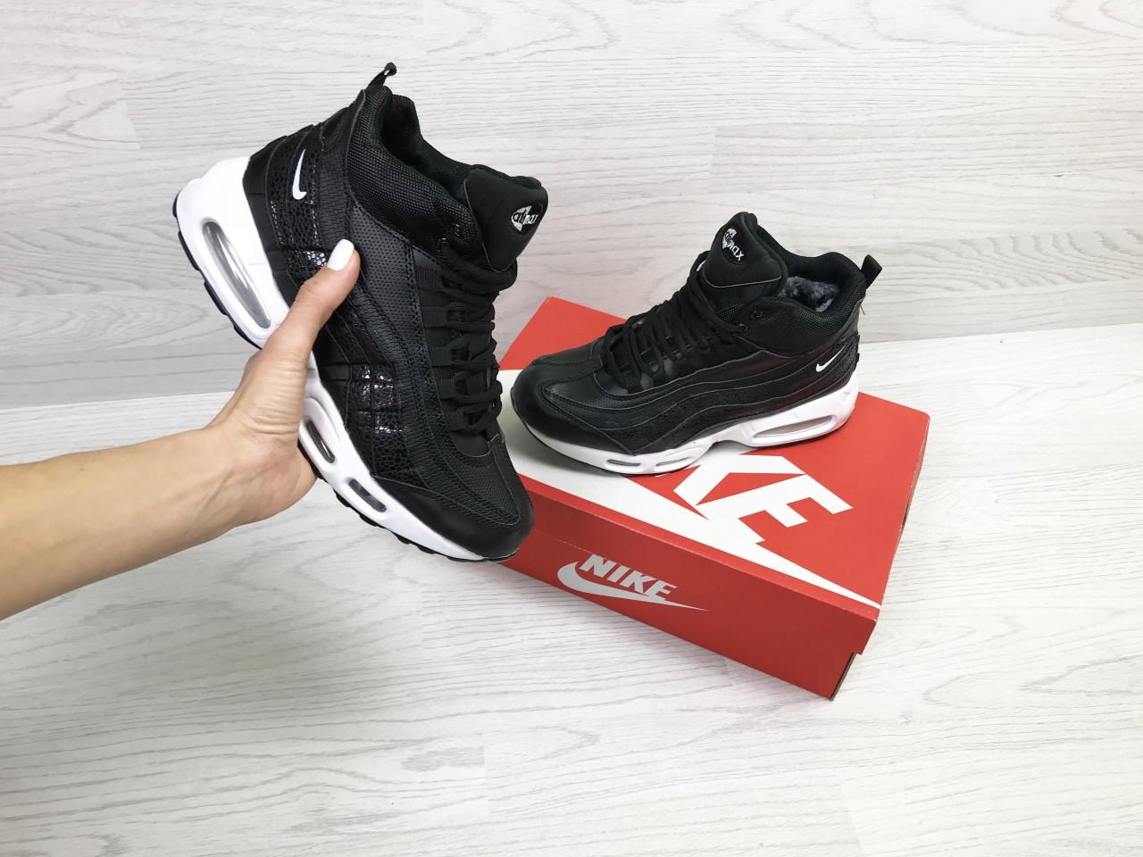 90da0785 Подростковые зимние кроссовки Nike 6977 черные с белым купить ...
