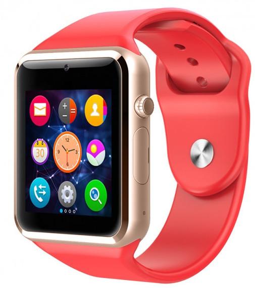 Часы Smart Watch A1 Red Гарантия 1 месяц