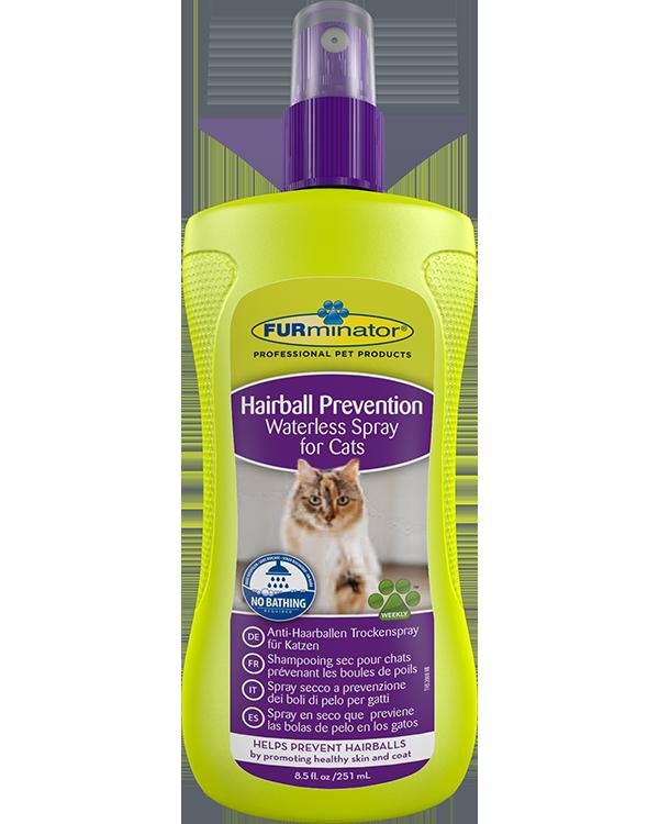 Шампунь-спрей Furminator Hairball Prevention Spray для кошек  шерстяных комков, 250 мл