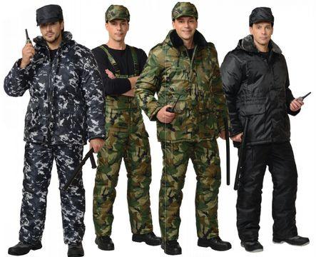 Защитная спецодежда, одежда для охранных структур