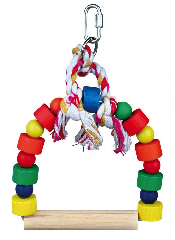 Качели Trixie Arch Swing для птиц деревянные, 13х19 см