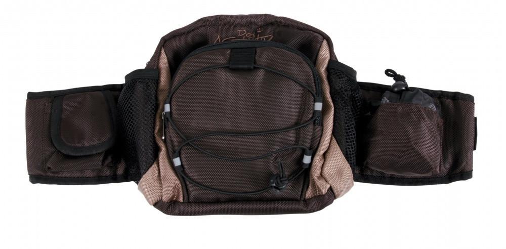 Сумка-пояс Trixie Multi Belt Hip Bag для прогулок с собакой, с поводком, 57-138 см (28861)
