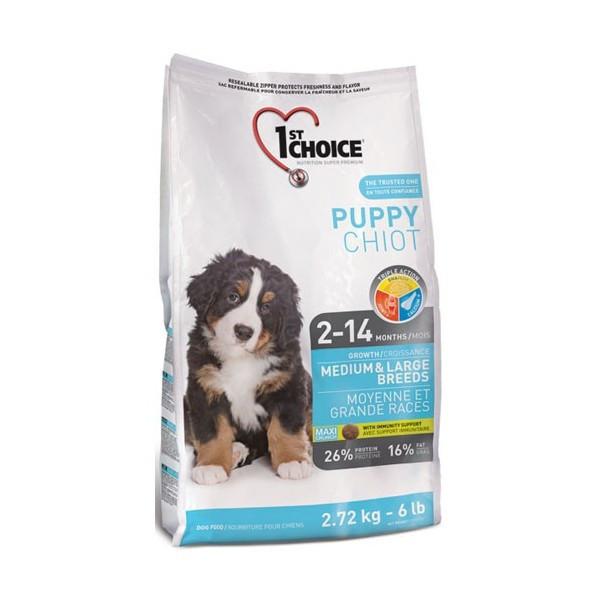 1st Choice Puppy Medium & Large Breed корм для щенков средних и крупных пород с курицей, 2.72 кг