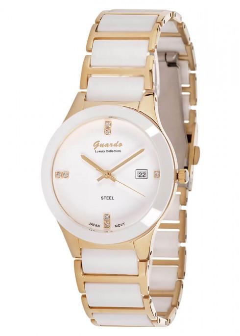 Жіночі наручні годинники Guardo S00580(m) GW