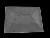Крышка на кирпичный забор «КИТАЙ» 450х450 мм. цвет коричневый, вес 25 кг