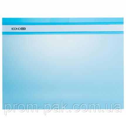 Скоросшиватель для бумаги  Economix голубой 31511-11, фото 2