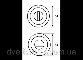 Накладка дверная под WC с индикатором (красн./зелен.) T12i SS, фото 2