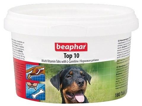 Кормовая добавка Beaphar Top 10 с L-карнитином для собак, 180 таб