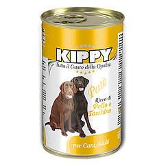 Паштет Kippy Dog для собак с курицей и индейкой, 1250 г