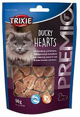Лакомство Trixie Premio Ducky Hearts для кошек с уткой и минтаем, 50 г