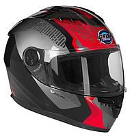 GEON 968 NEW Stealth Black/Red, XS Мотошолом інтеграл, фото 1