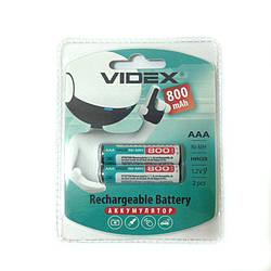 Аккумулятор ААА Videx 800 mAh 2 шт