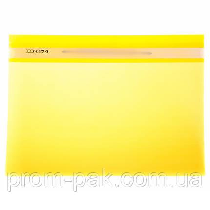 Папка скоросшиватель Economix  31511-05 желтая, фото 2