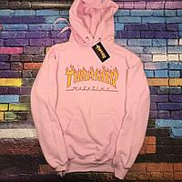 Худи Thrasher Pink   Бирки Фото живые   Трешер розовая толстовка