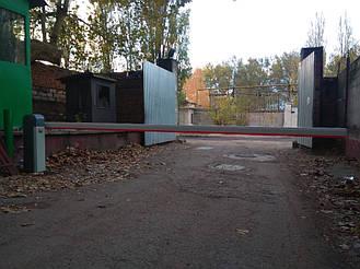 Установка автоматического шлагбаума AN-Motors ASB 6000 стрела 5 м