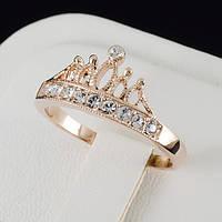 Шикарное кольцо с кристаллами Swarovski и c позолотой 0465