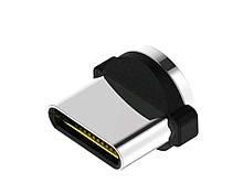 Магнітний круглий конектор Type c для кутових кабелів USB TOPK