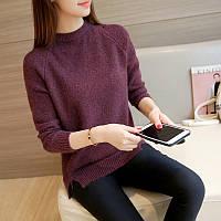 Легкая женская фиолетовая кофта свободного кроя