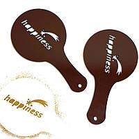 Эксклюзивный дизайн трафаретов для кофейных напитков и десертов.