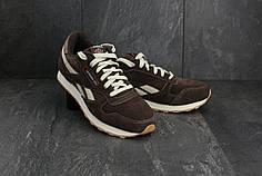 Мужские демисезонные кроссовки Reebok Classic коричнево-бежевые топ реплика