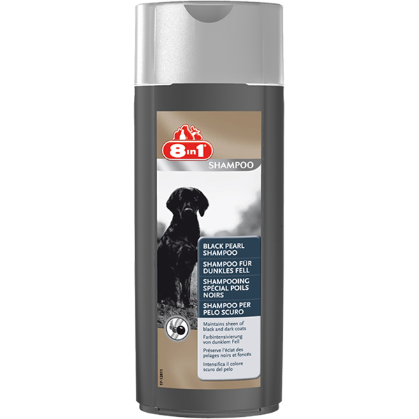 Шампунь 8 in 1 Black Pearl Shampoo для собак темных окрасов, 250 мл