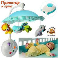 Карусель ночник с проектором и куполом «ЖИВАЯ ПЛАНЕТА» аналог FISHER-PRICE 7180 мобиль умный малыш