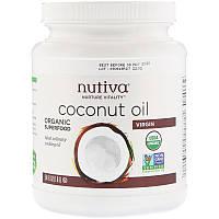 Органическое кокосовое масло первого отжима Nutiva Nurture Vitality, (съедобное), 1.6 л